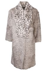 Thakoon Fur Collar Coat - Lyst