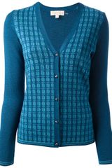 Tory Burch Patterned Cardigan - Lyst