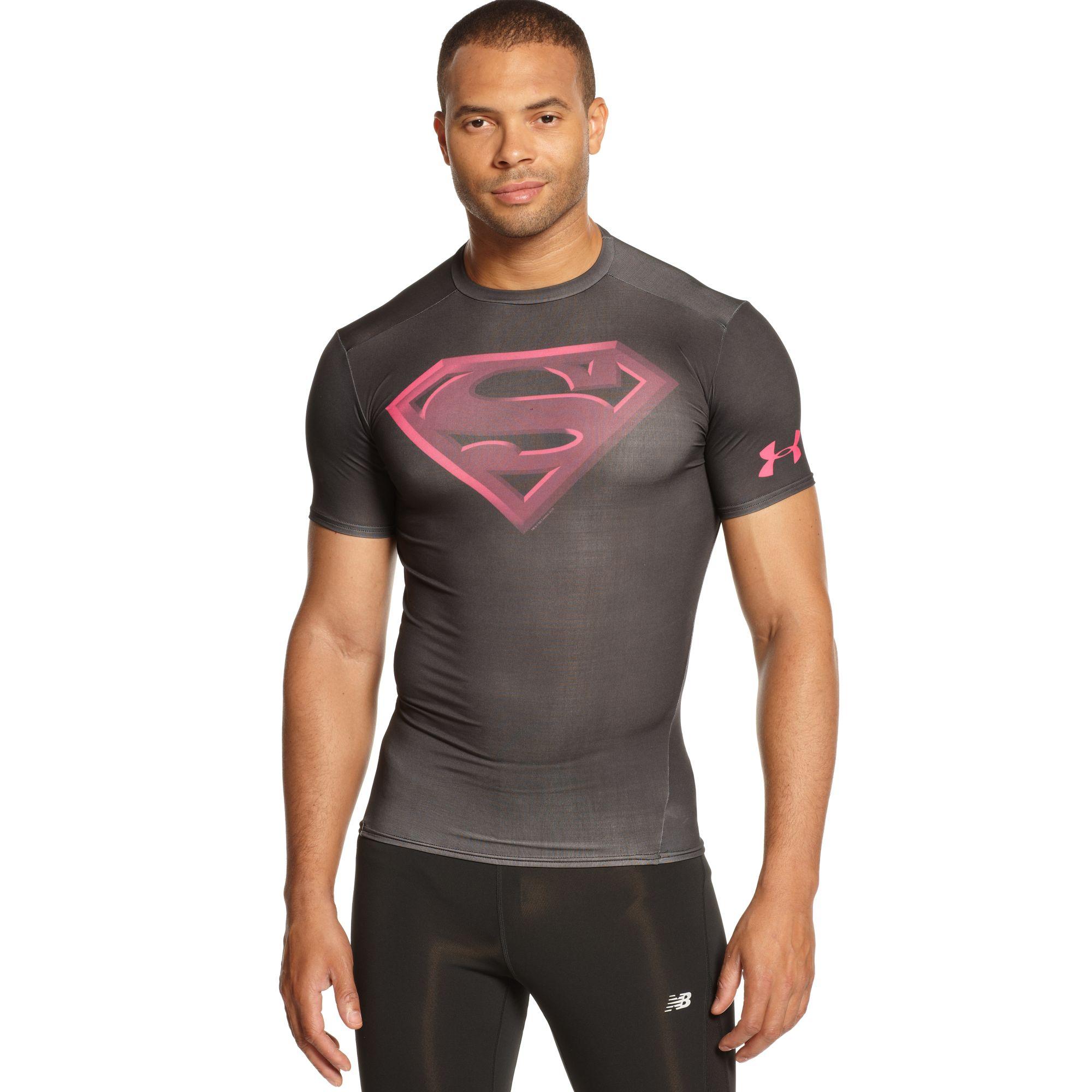 Under Armour Alter Ego Superman Compression in Black for Men | Lyst