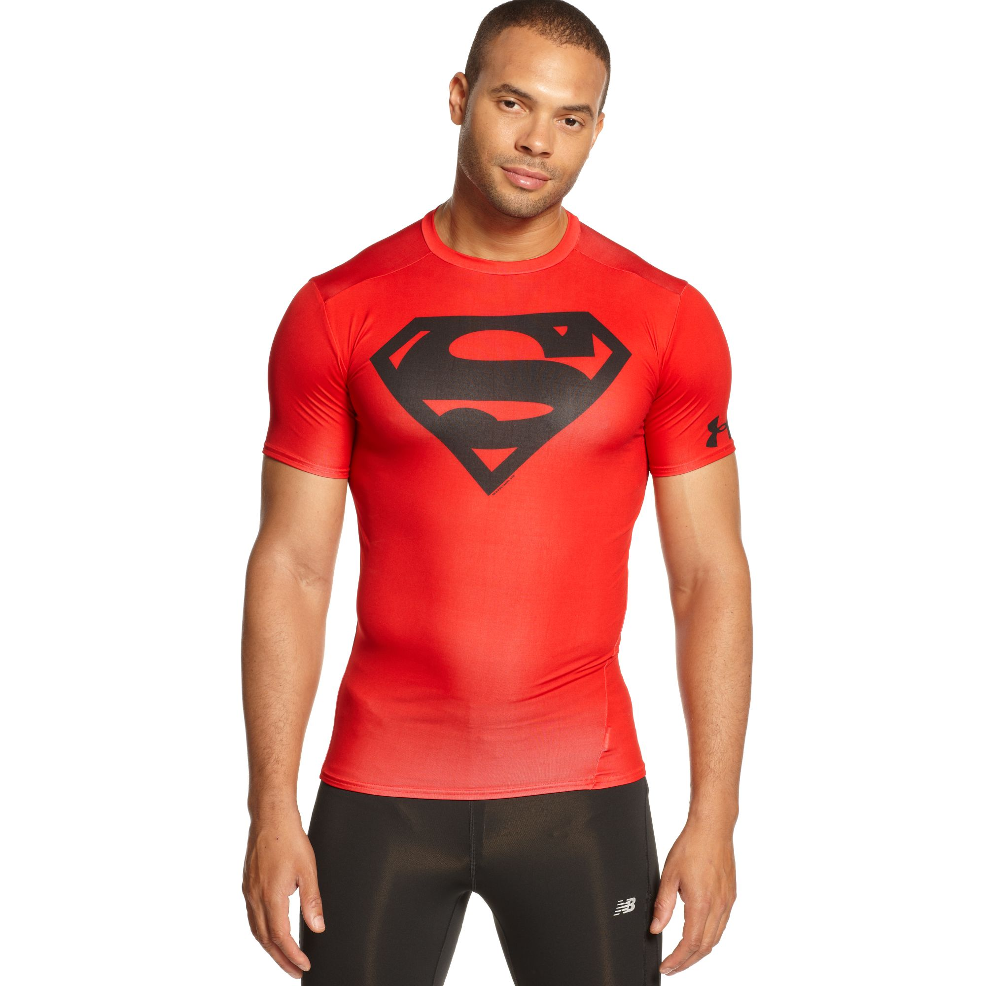 Lyst Under Armour Alter Ego Superman Compression In Red