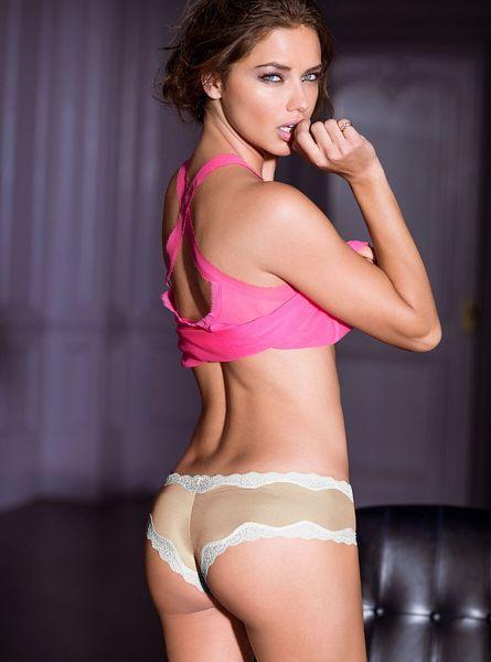 victoria s secret lace trim cheeky panty in beige nude lyst