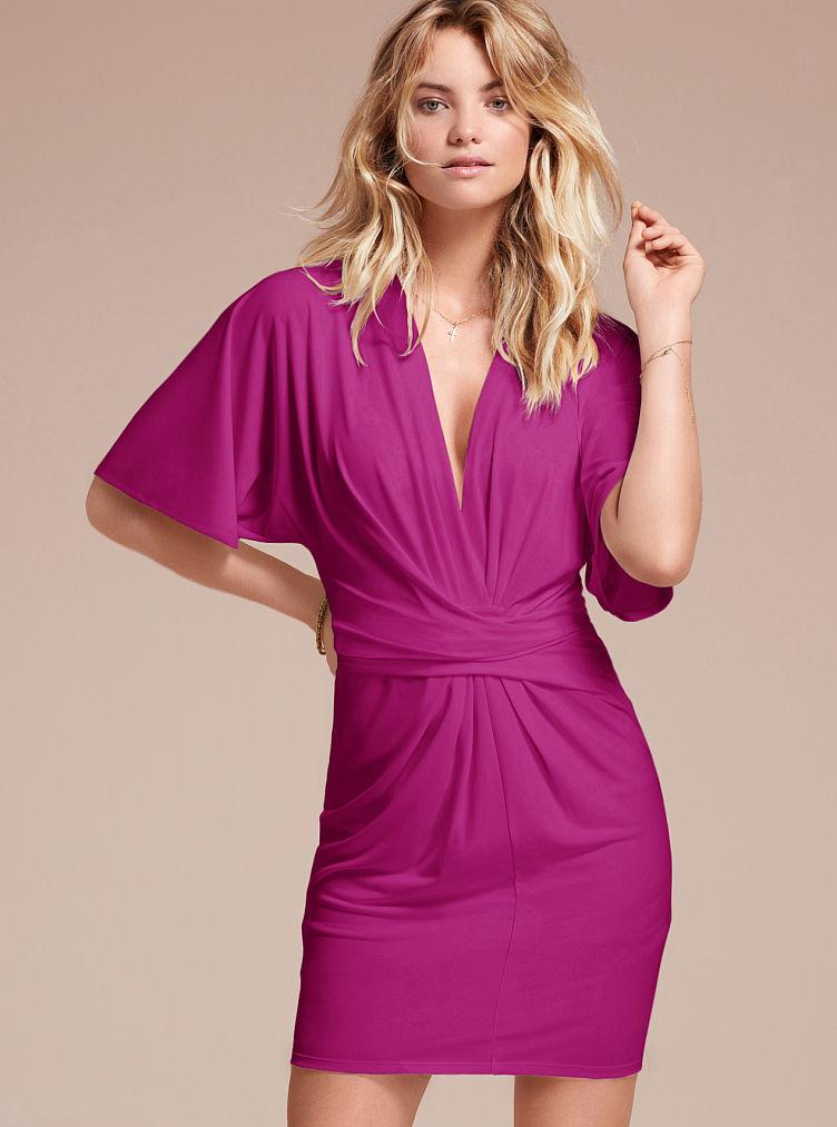 Victoria 39 S Secret Flutter Sleeve Dress In Purple Rhumba