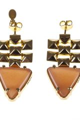 Wouters & Hendrix Studded Drop Earrings - Lyst