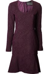 Yigal Azrouel Stretch Jacquard Dress - Lyst