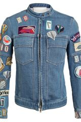 3.1 Phillip Lim Denim Jacket with Badge Appliqué - Lyst