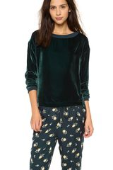 Band Of Outsiders Velvet Pullover - Lyst