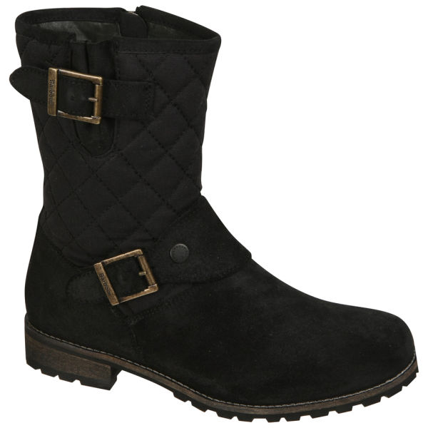 Awesome  Boots  Daniel  Daniel Black Star Biker Womens Flat Biker Boot