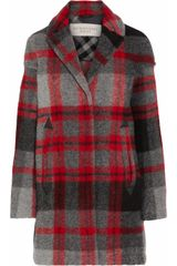 Burberry Brit Plaid Woolblend Coat - Lyst