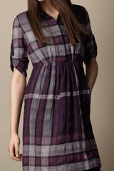 Burberry Check Shirt Dress - Lyst