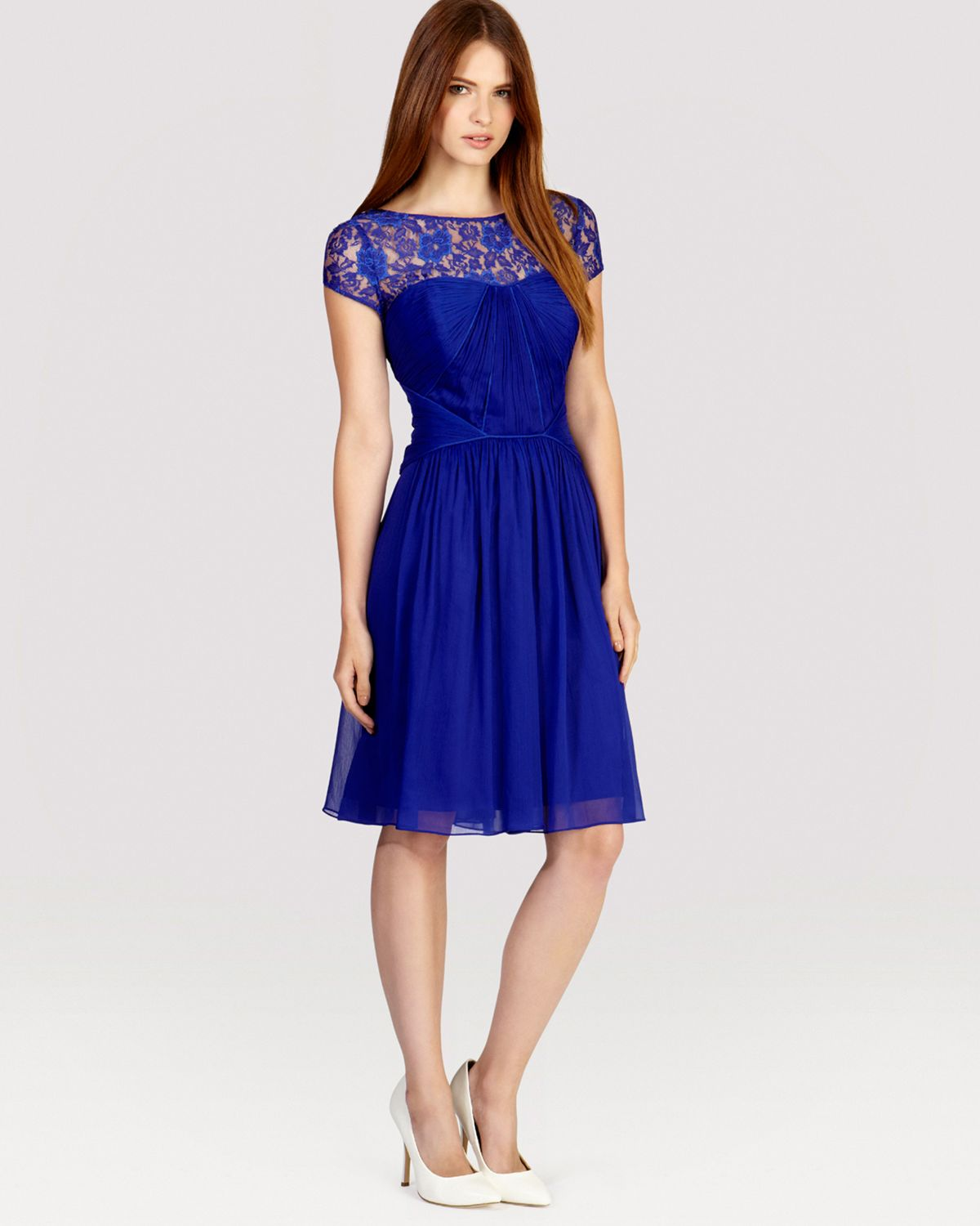 coast dress lisanne in blue cobalt blue lyst