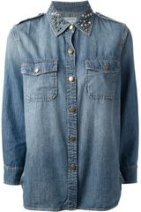 Current/Elliott Denim Shirt - Lyst