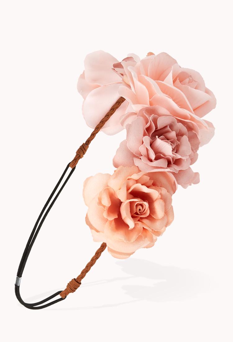 Pink flower crown forever 21 flowers healthy lyst forever 21 flirty flower crown in pink izmirmasajfo