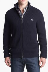 Fred Perry Zip Front Cardigan - Lyst