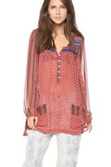 Free People Feather in The Wind Top - Lyst