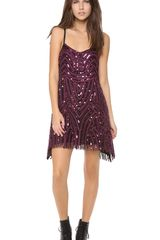 Free People Beaded Mesh Cocktail Dress - Lyst