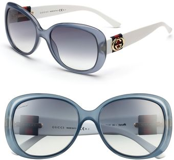 Gucci 56mm Oversized Sunglasses - Lyst