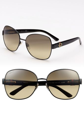 Gucci 59mm Oversized Sunglasses - Lyst