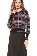 Jean Paul Gaultier Plaid Sweater - Lyst