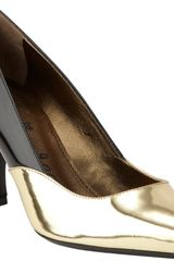 Lanvin Bicolor Pointed Toe Pump - Lyst