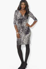 Lauren by Ralph Lauren Print Matte Jersey Sheath Dress - Lyst