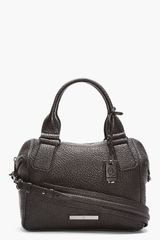 McQ by Alexander McQueen Black Pebbled Leather Church Duffle Bag - Lyst