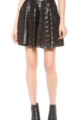 Milly Chevron Circle Skirt - Lyst