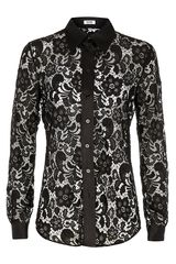 Moschino Cheap & Chic Lace Blouse - Lyst