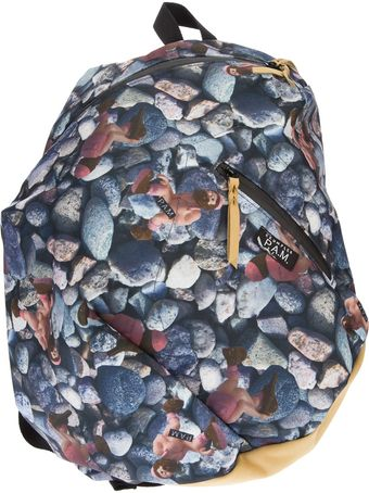 Pam Stone Print Backpack - Lyst