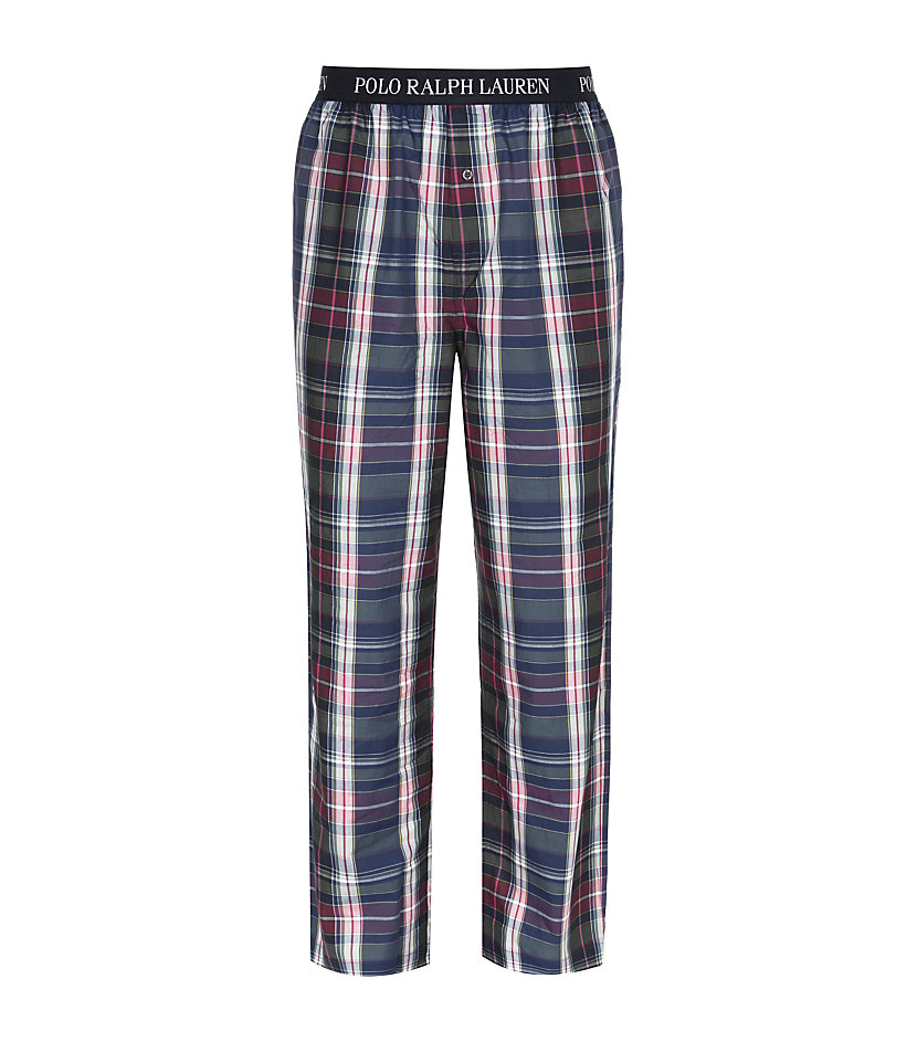 polo ralph lauren plaid pyjama pant in blue for men lyst. Black Bedroom Furniture Sets. Home Design Ideas