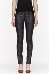 Rag & Bone Black Leather The Hyde Beaded Leggings - Lyst
