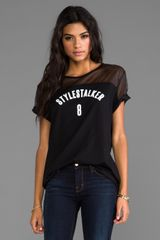 Style Stalker Tee By No 8 Tee in Black - Lyst