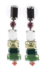 Tom Binns Tri Colour Earrings - Lyst