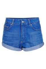Topshop Moto Polly Denim Shorts - Lyst