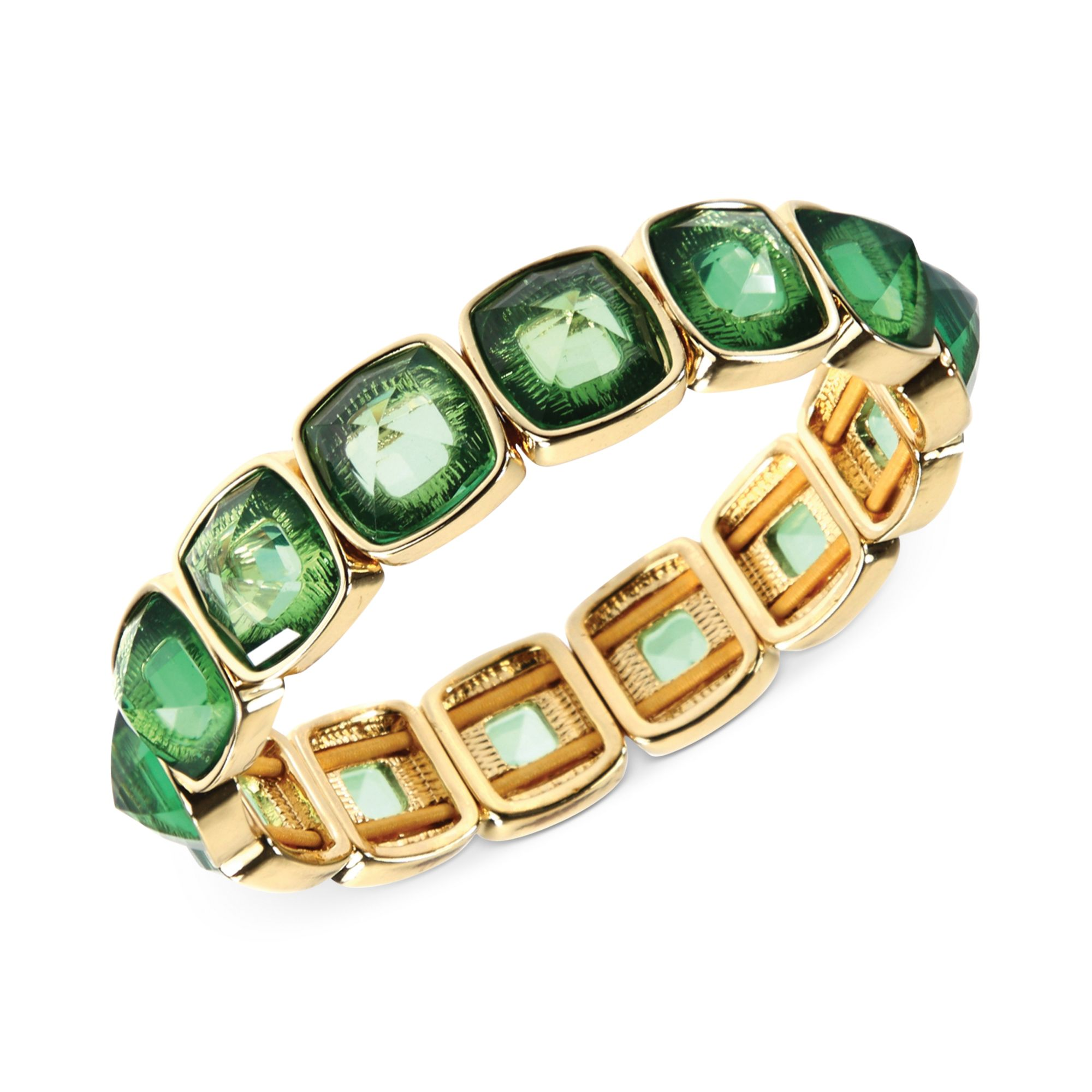 s stone candy p ippolita sterling bangle bracelet green mop silver multi rock