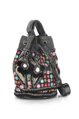 Antik Batik Ale Embroidered Black Mini Bucket Bag - Lyst