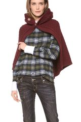 DSquared2 Wool Cape - Lyst