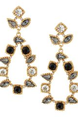 Fragments Princess Glass Facet Earrings Jetclear - Lyst