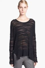 Helmut Helmut Lang Destroyed Bouclé Sweater - Lyst