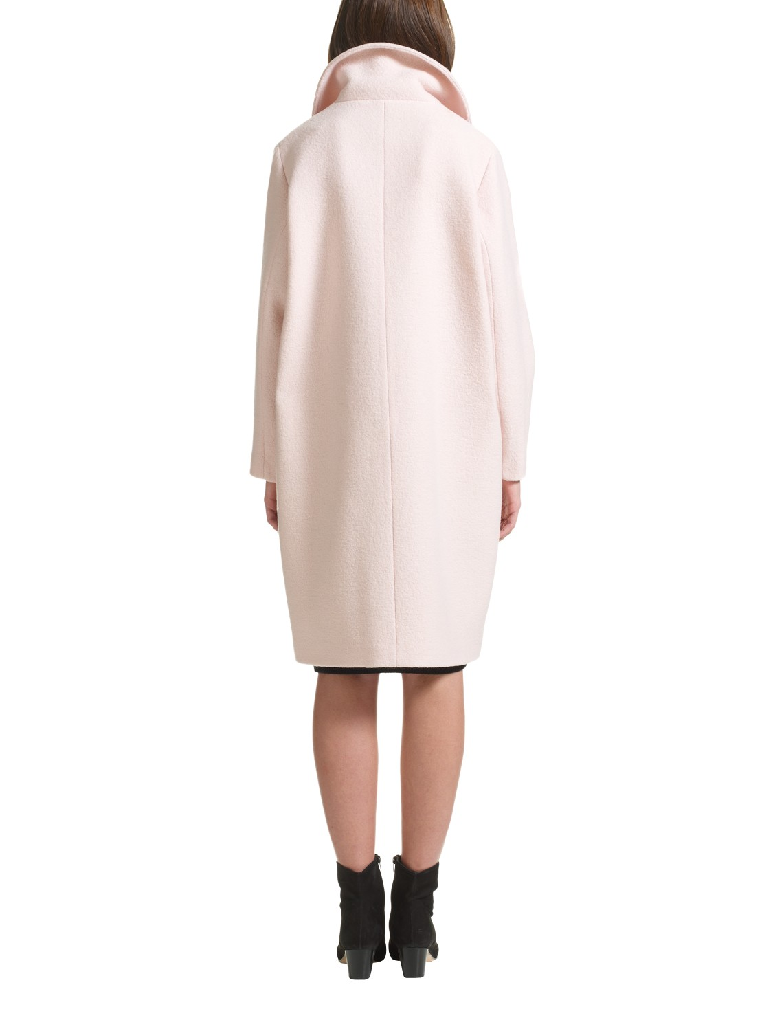 Jigsaw Wool Four Button Coat in Pink | Lyst