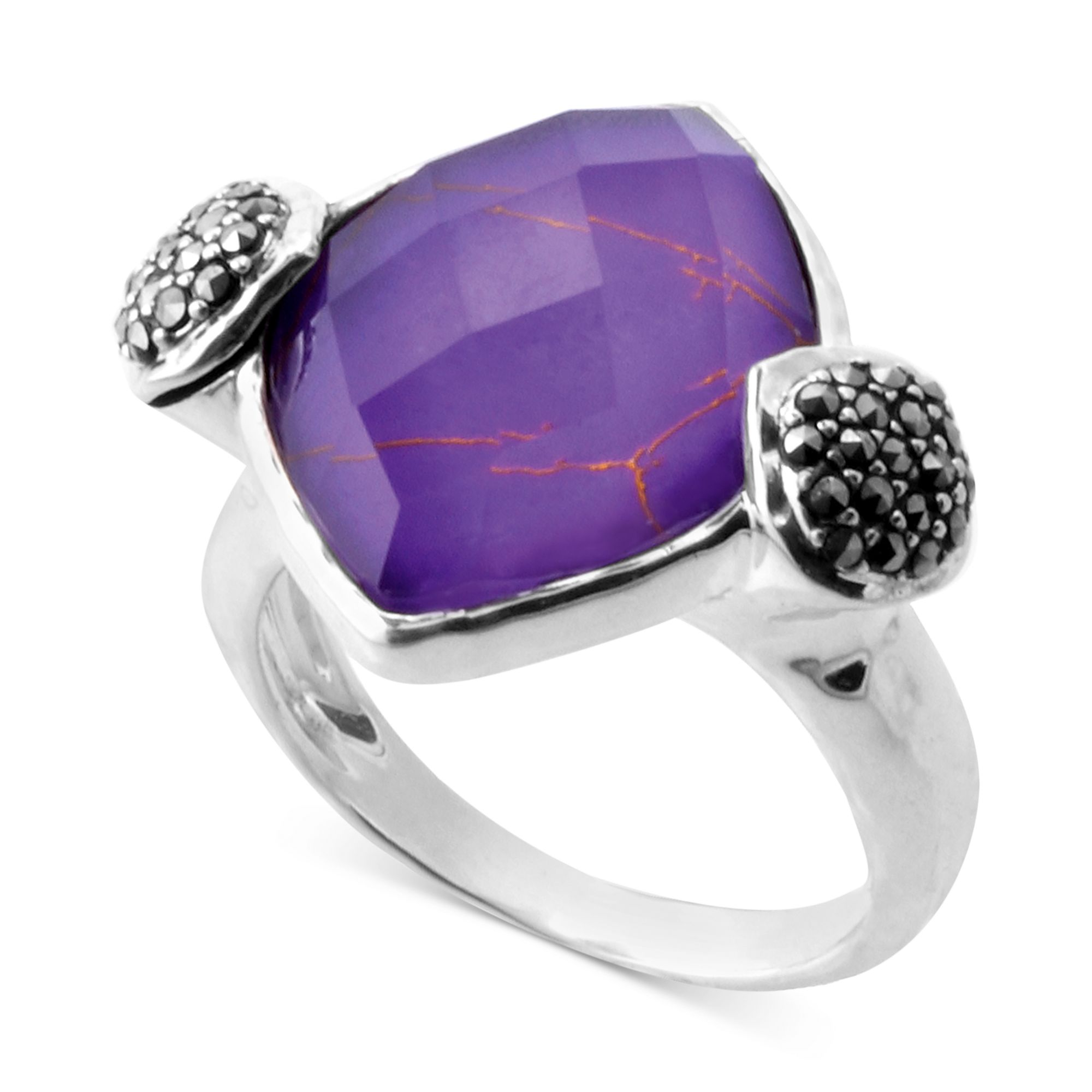judith sterling silver imitation purple turquoise 923