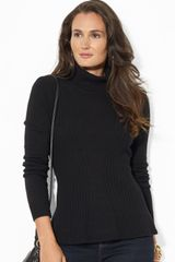 Lauren by Ralph Lauren Peplum Turtleneck - Lyst