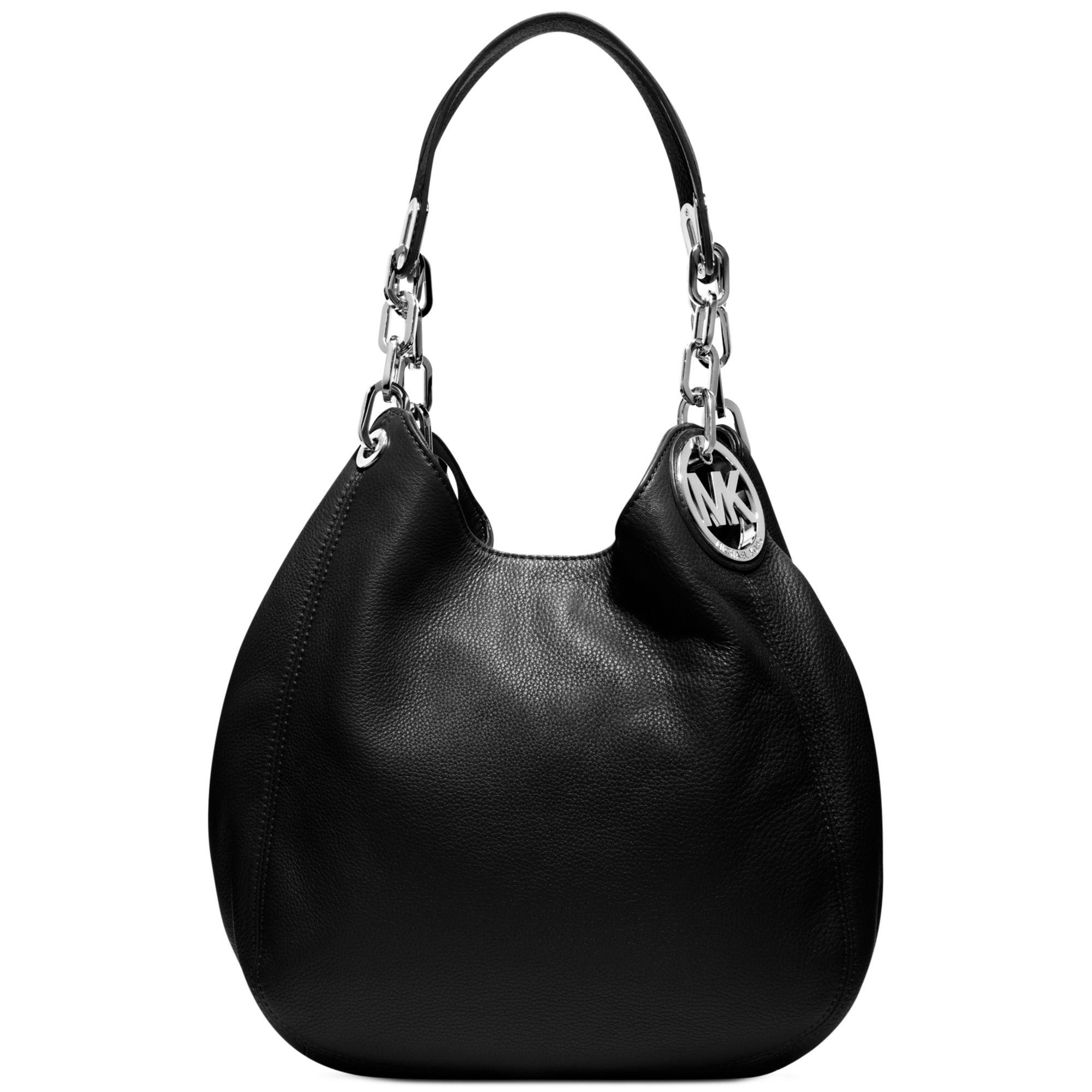 lyst michael kors fulton medium shoulder bag in black. Black Bedroom Furniture Sets. Home Design Ideas