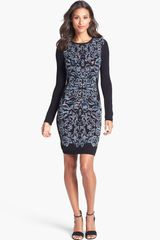 Nicole Miller Space Dye Sweater Dress - Lyst