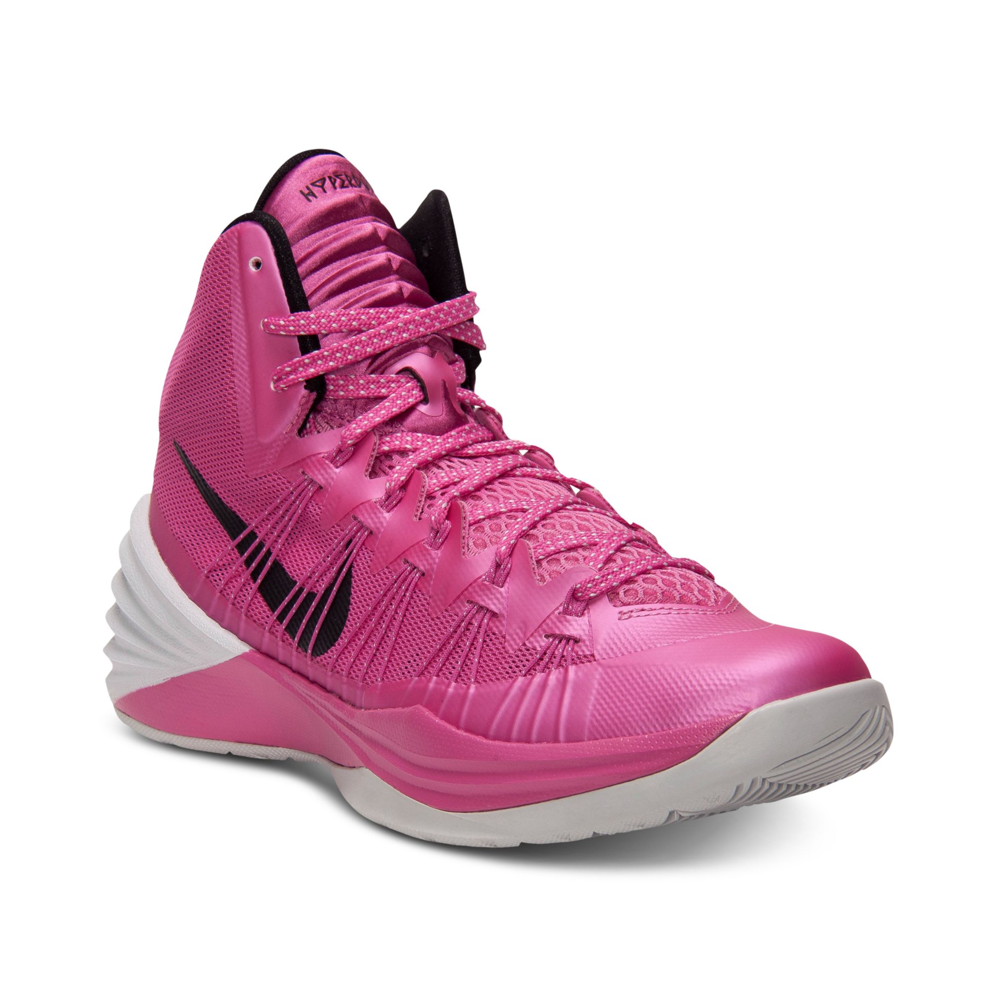 nike hyperdunk basketball sneakers in pink for pink