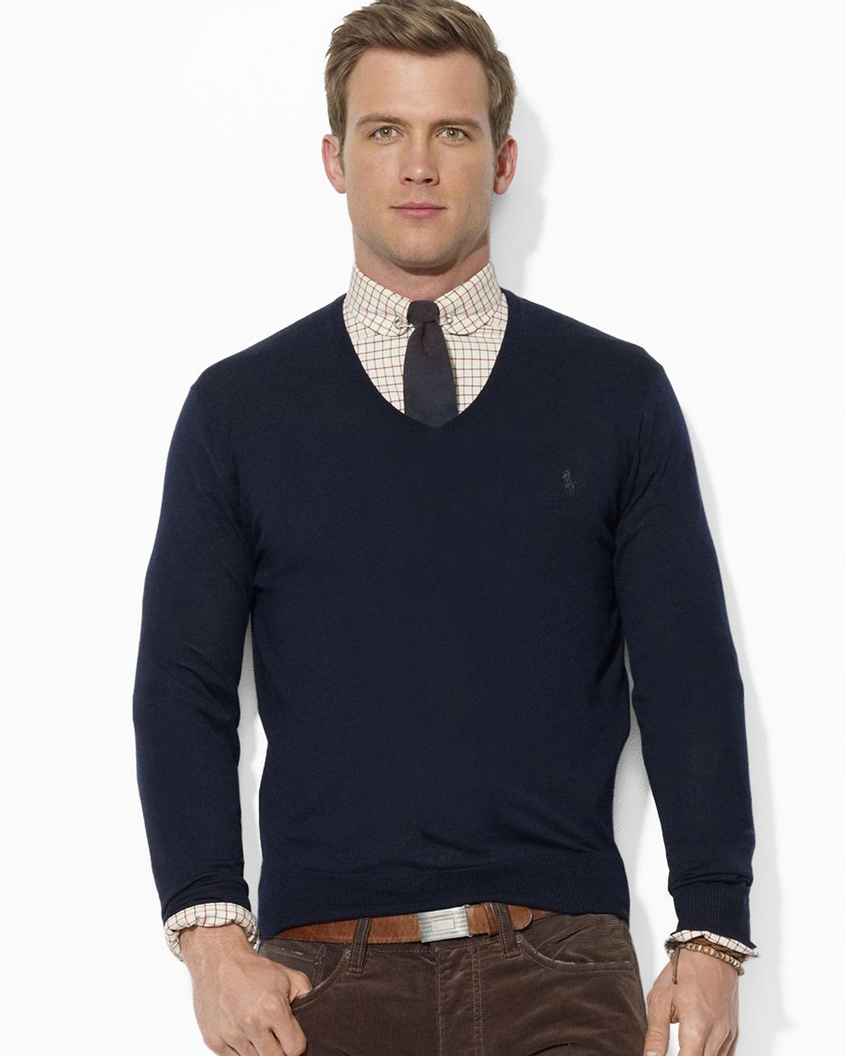 8f7204efd4969 Lyst - Ralph Lauren Polo Merino Wool V-neck Sweater in Blue for Men
