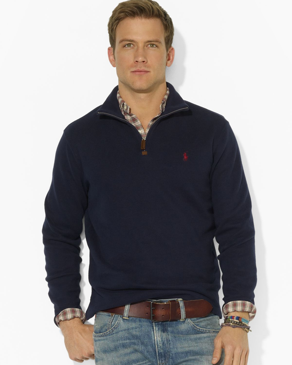 Ralph lauren Polo French-rib Halfzip Mock-neck Pullover Sweater in ...