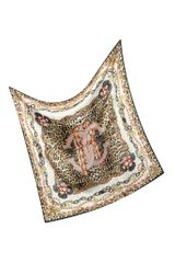 Roberto Cavalli Animal and Jewel Print Silk Square Scarf - Lyst