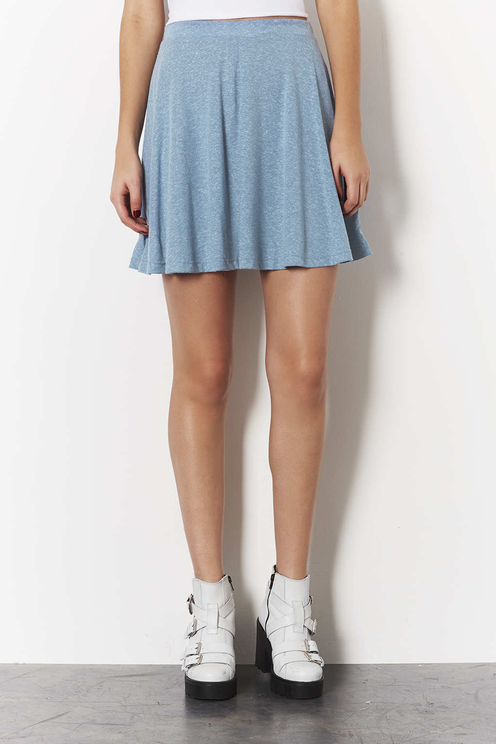 fdb958954b TOPSHOP Blue Speckle Skater Skirt in Blue - Lyst