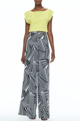 Alice + Olivia Geometricprint Superflare Pants Alice Olivia - Lyst