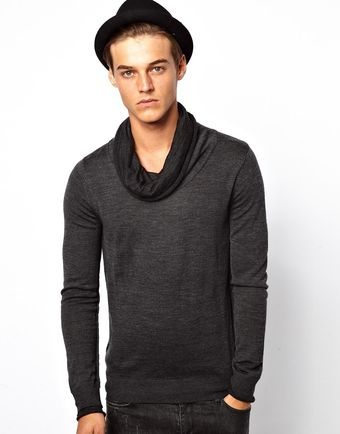 Asos Antony Morato Double Collar Sweater - Lyst